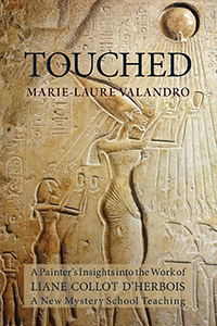 Touched cover showing Egyptian hieroglyphics.