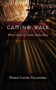 Camino Walk book cover showing shadows through a wicker basket