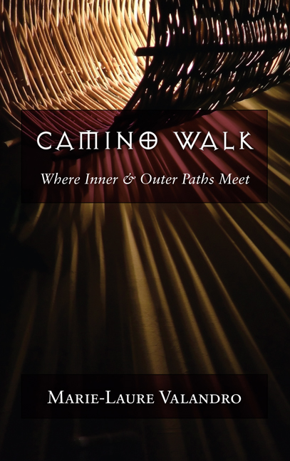 Camino Walk book cover showing shadows through a wicker basket.