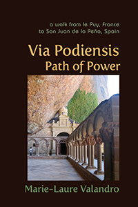 Via Podiensis, Path of Power cover showing stone columns.