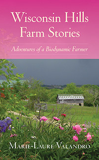 Wisconsin Hills Farm Stories cover showing pink flowers in the tall grass.